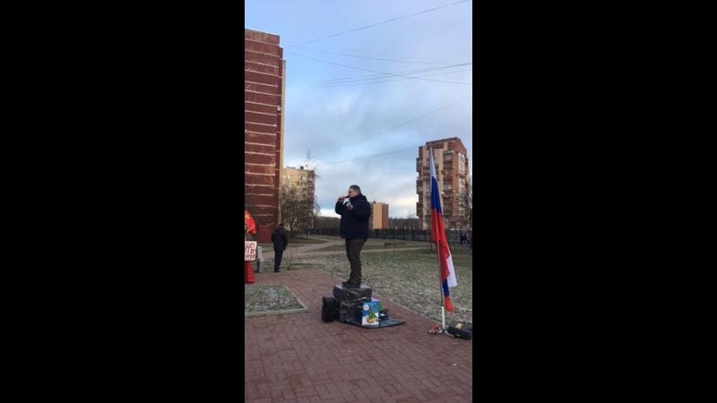 Митинг против мусоросжигающего завода в Петергофе