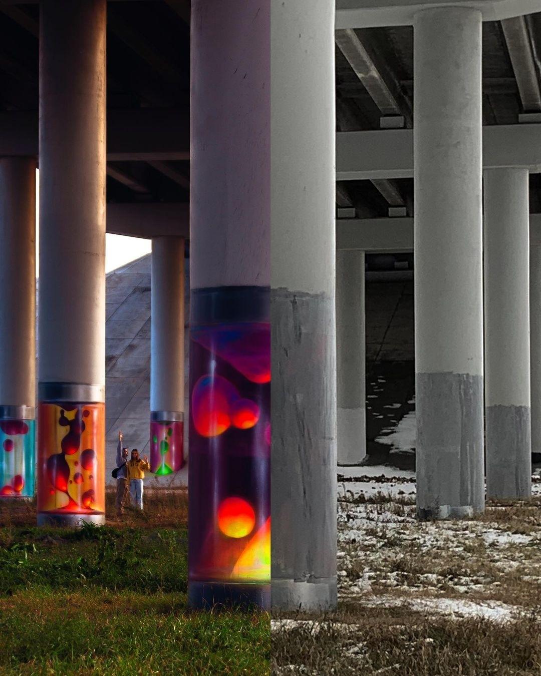 В Калуге закрасили граффити под мостом в рамках работ по содержанию дорог