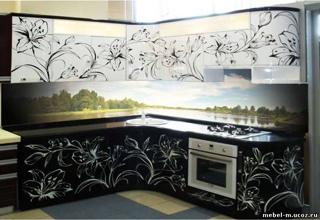 Кухонные гарнитуры с фотофасадами