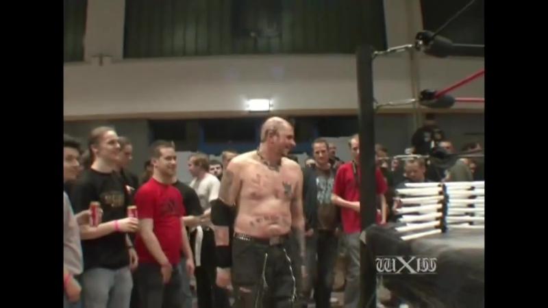 WM Дэнни Хэвок против Дрейка Янгера против Хэйта против Тамбтека Джека wXw Gorefest II 04 04 2009