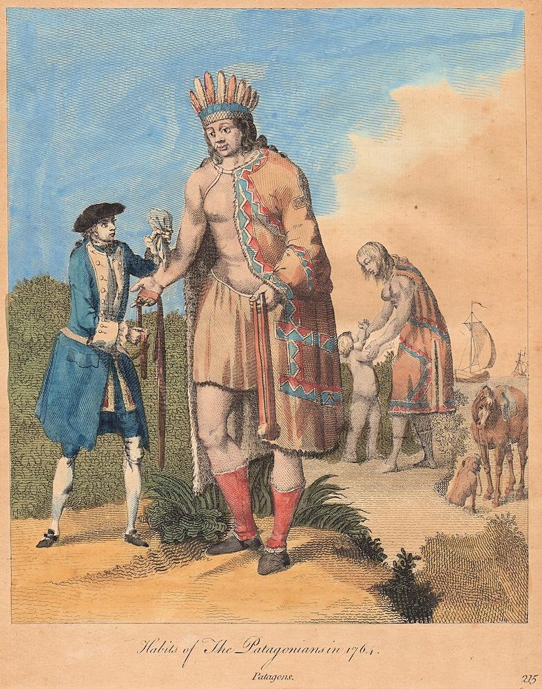 Патагонцы в 1764 году
