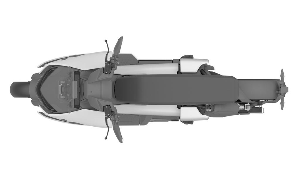 Дизайнерские рисунки производственной версии электроскутер BMW CE 04