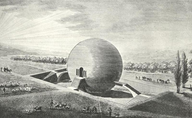 Загадка архитекторов Этьена Булле и Клода Леду идеи которому давали «сущности выходящие из тени», изображение №7