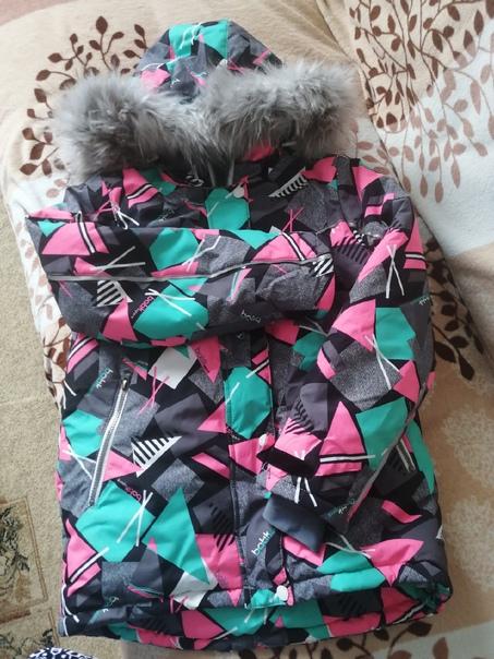 Горнолыжный костюм для девочки, р 146 (на худеньку...