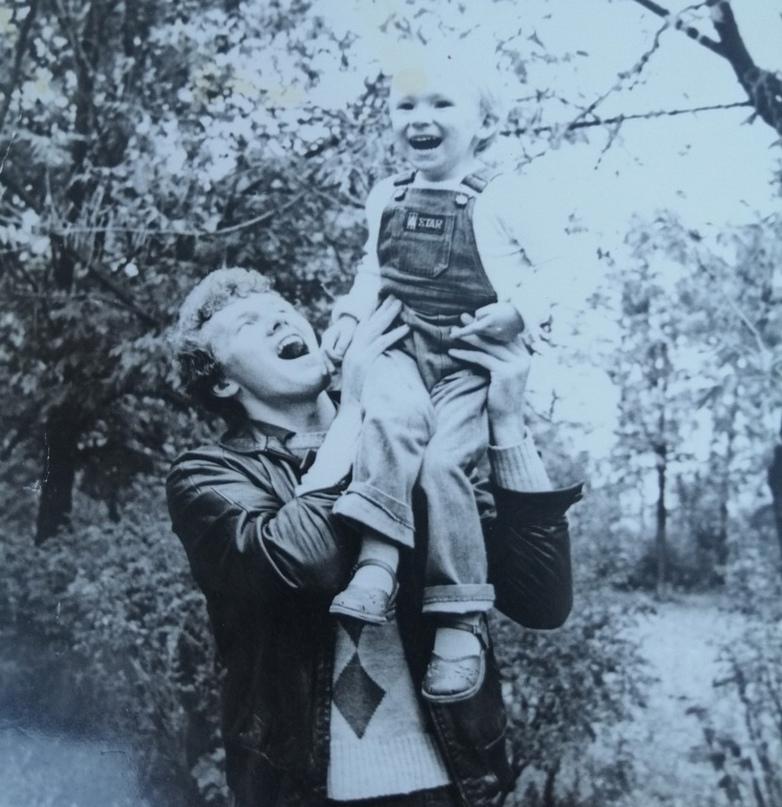 С сыном Алексеем