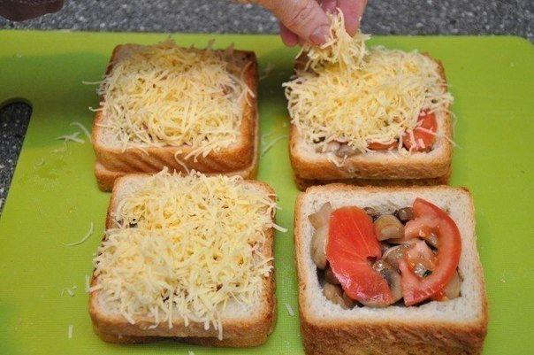 Вкусные бутерброды.