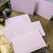 Карточки рассадки Стандарт+ Розовая пастель