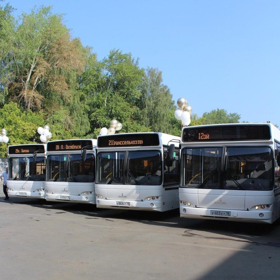 В Ижевске 33 новых полунизкопольных автобусов МАЗ