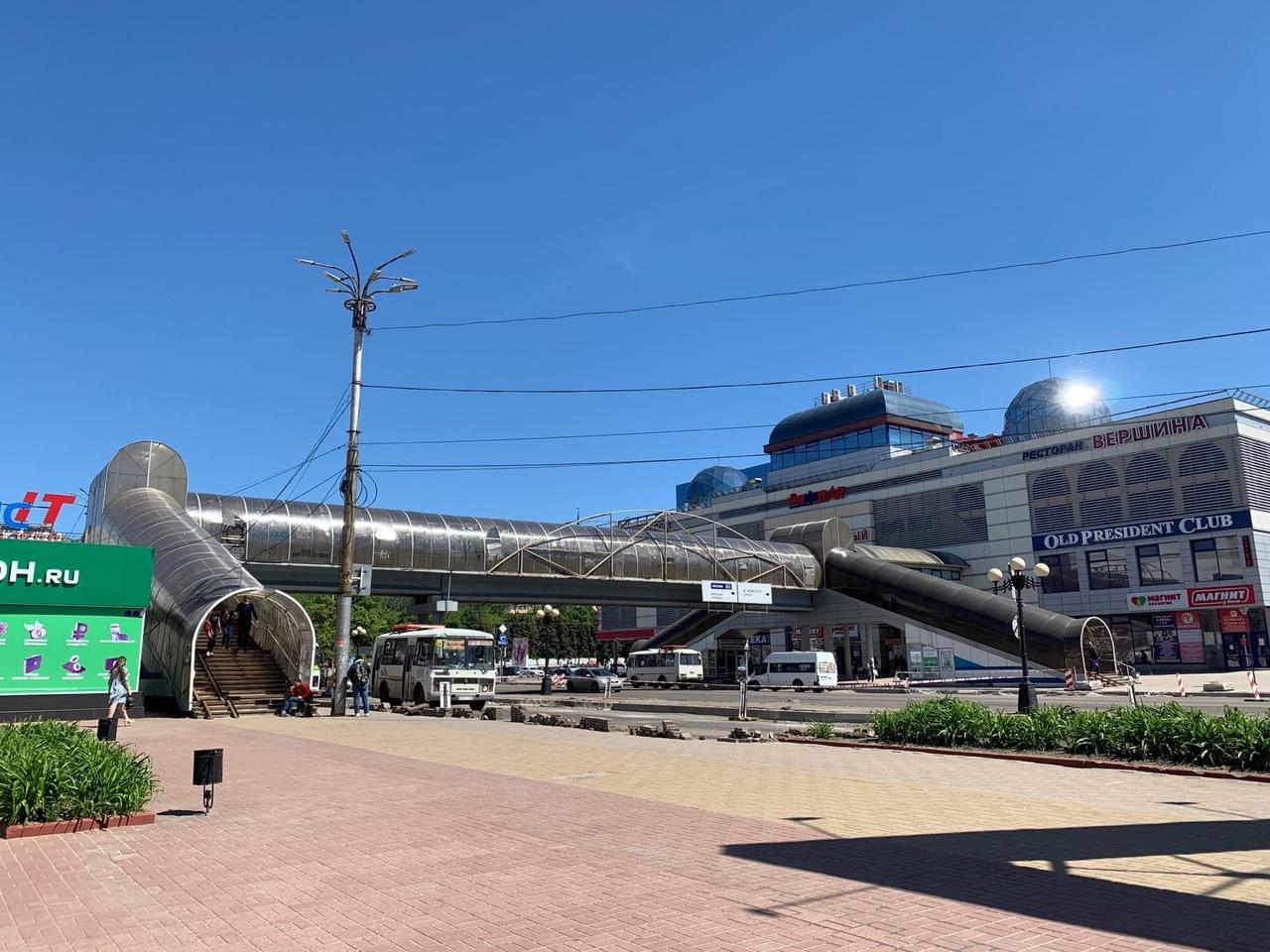 Надземный переход на улице Дзержинского в Курске решено реконструировать