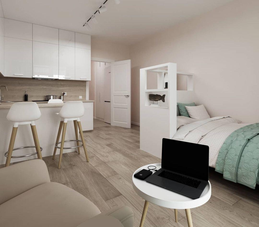 Проект квартиры-студии для девушки-студентки.