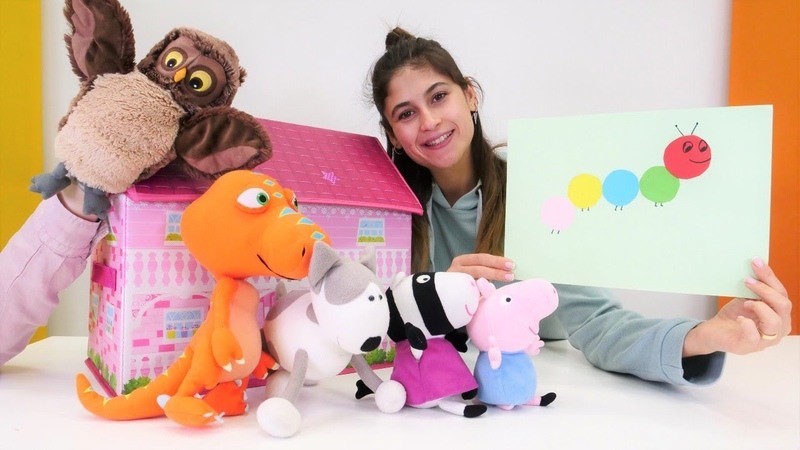 Oyuncak kreşi çocuk videoları Renkli kağıtlardan tırtıl Okul öncesi eğitim