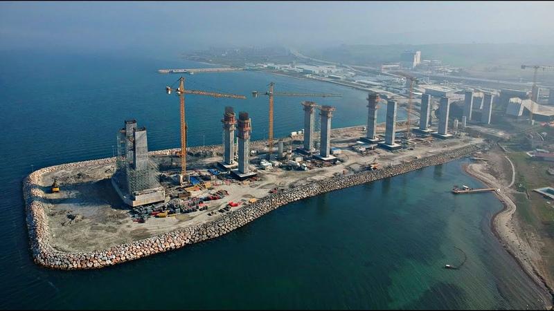 Как тебе такое Китай Турки строят самый большой подвесной мост в мире