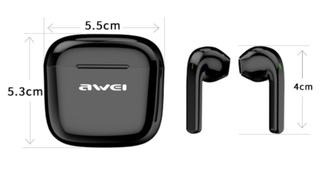 AWEI новейшие Bluetooth V5.0 наушники TWS стерео Бас мощный Звук сенсорное управление на Алиэкспресс