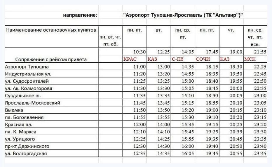 Из Ярославля до аэропорта «Туношна» и обратно начал ходить аэроэскпресс