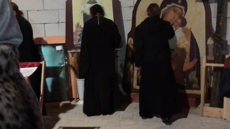 Епископ Петергофский Силуан на Молебне в Новом Строящемся Храме в Честь Порт Артурской Иконы Божией Матери