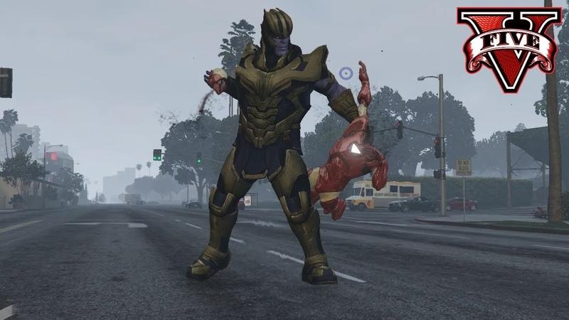 GTA 5 Thanos Endgame public release - Powers showcase - Thanos V2