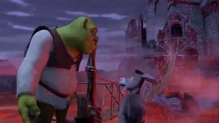 Shrek 1, 2, 3 and 4 in 1 minute.