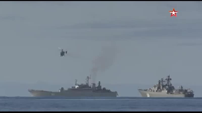 Высадка десанта подразделений Северного флота в Арктике