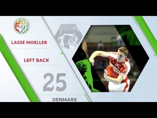 Lasse Moeller (DEN) - All-star left back   IHFtv - Algeria 2017 Mens Junior WCh