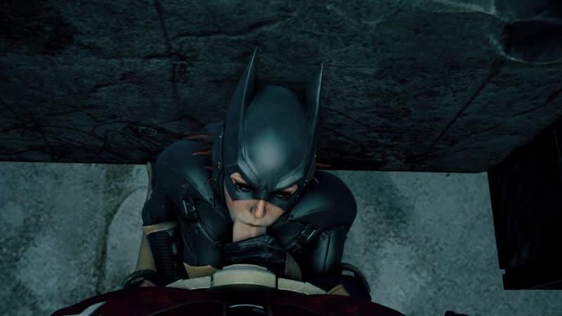 Batgirl sucks batman's dick