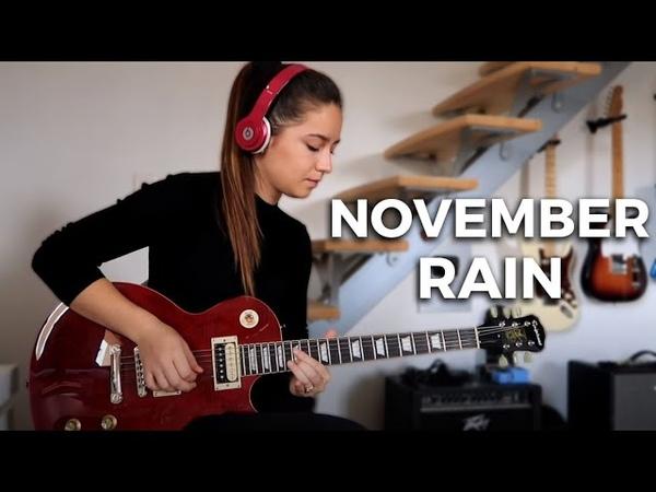 Guns N' Roses November Rain solo Cover by Chloé