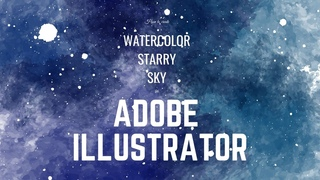 Watercolor Space background in Adobe Illustrator