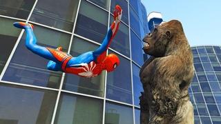 GTA 5 Ragdolls Spiderman vs Cops vs Superheroes (Funny Moments, Fails, Jumps, Euphoria Physics)