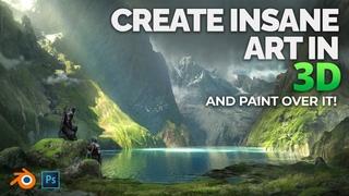 Create Art Like This In Blender (For Beginners!)