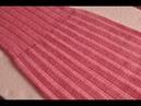 Оборка гофре. Машинное вязание.
