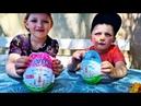 ЯЙЦА С СЮРПРИЗАМИ ВКУСНОМАМА ерунда за 300р! Дарина и Макар открывают игрушки Даринелка плей