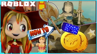 🌟 How to get Wonder Woman Shorts and Golden Axe! Roblox Wonder Woman: The Themyscira Experience!