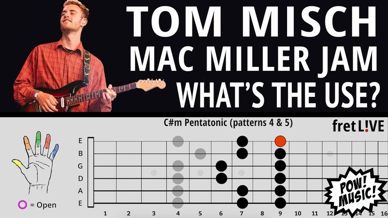 Tom Misch Mac Miller Jam on What's the Use GUITAR LESSON w fretLIVE