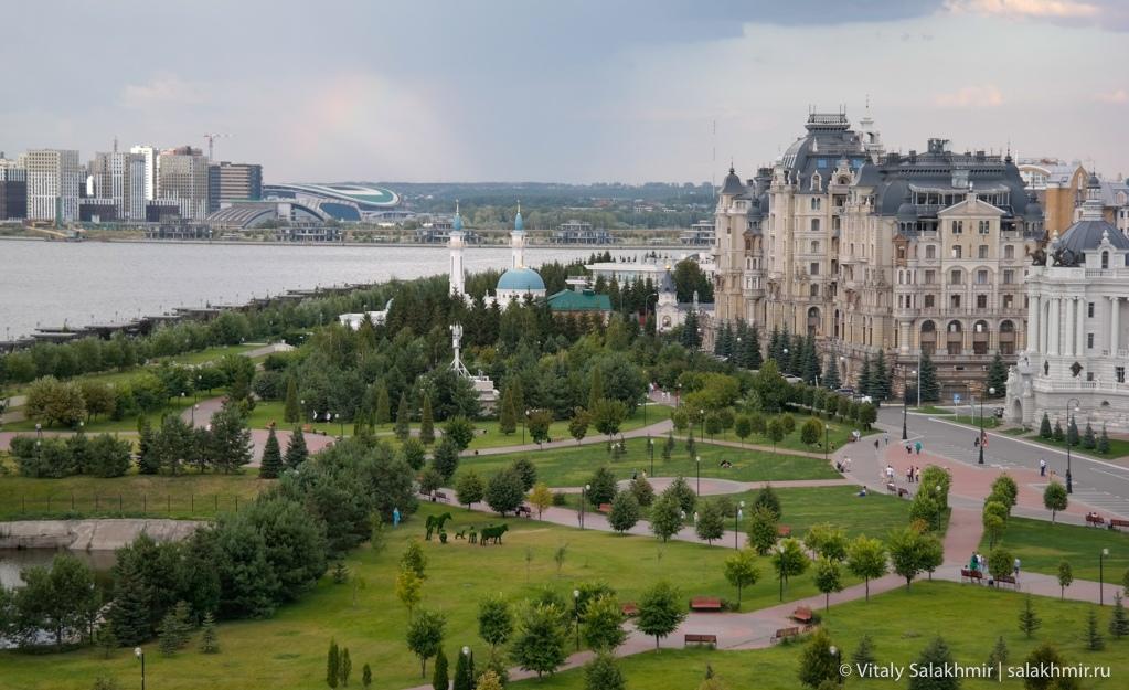 Набережная реки Казанки из Казанского Кремля, 2020