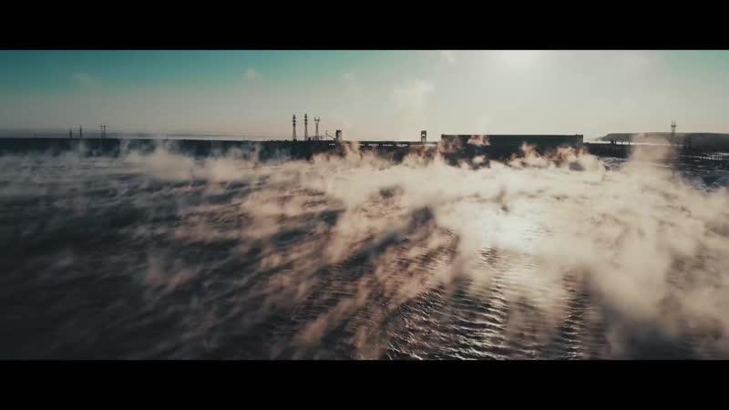Район Новосибирской ГЭС зимой