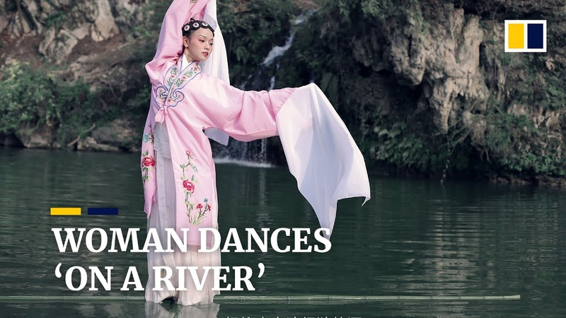 Woman dancing 'on a river' finds fame online in China
