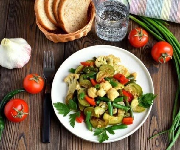 Овощное соте  превосходный гарнир для мясных блюд