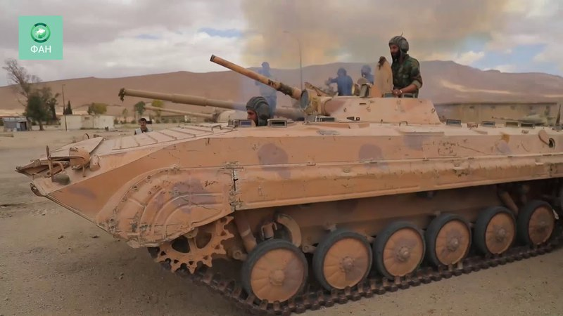 Сухейль аль Хасан и министр обороны САР прошлись по складу трофеев в Думейре