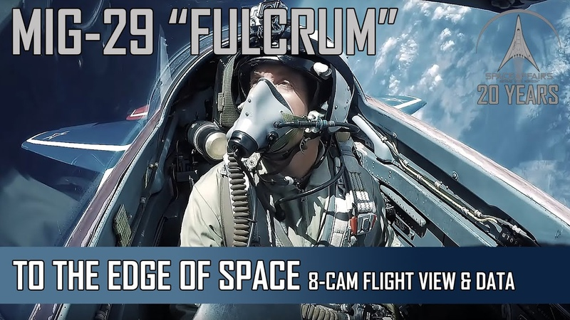 MIG-29 High Altitude - 8-Camera view Flight Data