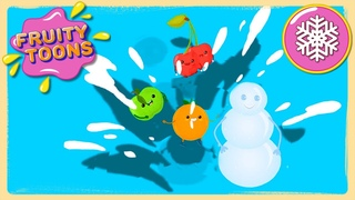 """Fruity Toons - 22 серия """"Снеговик из фруктов"""". Маленький добрый мультик"""