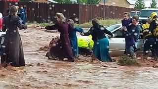Потоп в США   Ливень и Наводнение обрушились на Юту, Неваду, Нью Мексико и Аризону
