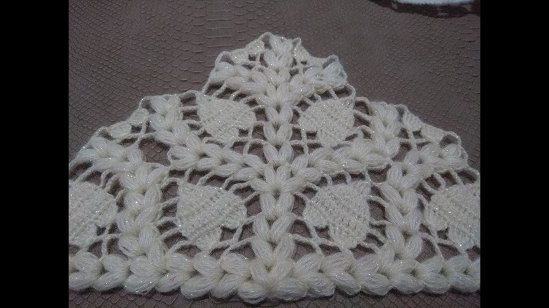 KENDİ TASARIMIM KALPLİ FISTIKLI ŞAL YAPILIŞIMy own design-hearted pistachio shawl construction
