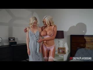 Lesbian sex, milf, lingerie, tattoo, big tits, big ass, hairy pussy, doggystyle, masturbation, pussy licking, orgasm, 1080p