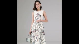 women summer floral silk dresses sex casual daily office party night club plus size dress 20214163