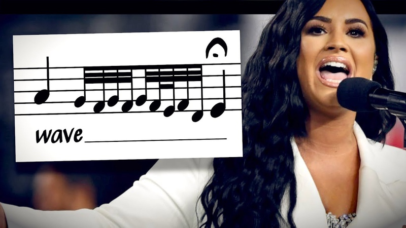 Analyzing Demi Lovato's arrangement of the Star Spangled Banner at the Super Bowl