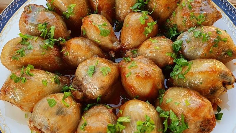 Perfect Stuffed Onions Recipe How To Make Stuffed Onions Super Ləzzətli Soğan Dolması Resepti