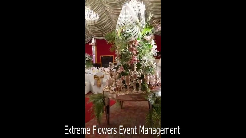 Small Round Table Flower Decor Ideas by Extreme Flowers Event Management