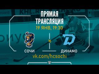 Прямая трансляция матча Сочи - Динамо,