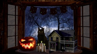 Trick or Treating on Halloween Night (candles, thunderstorm, haunted dollhouse, ASMR ambience)