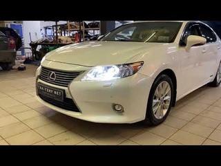 Lexus ES 2013 - замена штатных линз на светодиодные модули X-Bright X3